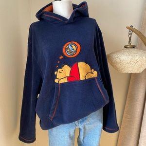 Vintage Winnie-The-Pooh Fleece Hoodie